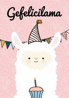 Een leuke, grappige verjaardagskaart met de tekst 'gefelicilama'. Deze verjaardagskaart is verkrijgbaar bij #kaartje2go voor € 1,89 Happy Birthday Art, Birthday Quotes For Him, Happy Birthday Messages, Happy Birthday Images, Birthday Board, Birthday Greetings, It's Your Birthday, Happy Wishes, Happy B Day