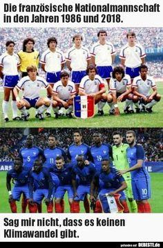 Die französische Nationalmannschaft in den Jahren 1986 und..   Lustige Bilder, Sprüche, Witze, echt lustig