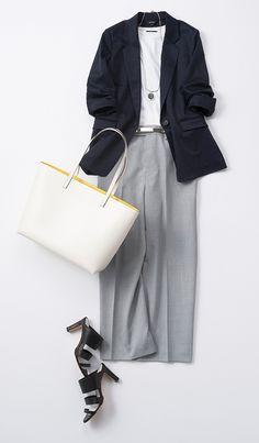 how to pair outfits Lawyer Fashion, Office Fashion, Work Fashion, Fashion Looks, Muslim Fashion, Hijab Fashion, Work Wardrobe, Capsule Wardrobe, Pantalon Large