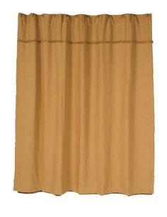 Burlap Natural Unlined Shower Curtain 72 x 72 Burlap Shower Curtains, Shower Curtain Hooks, Country Curtains, Natural Showers, Country Baths, Country Bathrooms, Primitive Bathrooms, Bath Decor