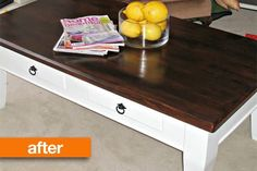 Before & After: Two Tone Coffee Table Makeover — Paisley and Polka Dot…