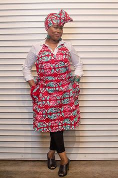 Regal Red Apron by AnnieMaesCookwear on Etsy