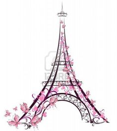 Eiffel tower drawing | Painting ideas | Pinterest