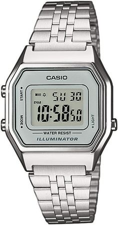 Casio Classic LA680WEA-7 LA680WEA-7EF, Casio Silver & Grey Retro Digital Watch for women