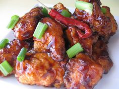 General Tso's Chicken  Very good recipe. I added in a few extra stuff though like garlic. Awesome