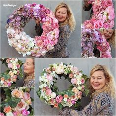 sdil flowers wreath - www.pl - hand made decoration Candy Flowers, Bridal Flowers, Felt Flowers, Wreaths And Garlands, Door Wreaths, Deco Floral, Wreath Crafts, Summer Wreath, How To Make Wreaths