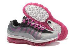buy popular fa7d2 d3dc2 Nike Air Max 95 BB Femme Chaussures De Course NoirNoir Gris-Loup Gris
