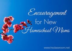 Encouragement for New Homeschool Moms (or even veteran homeschoolers just needing extra encouragement or feeling weary)