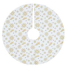 Gold Snowflakes Tree Skirt Custom Christmas Treeskirts Get The Best Xmas Designake Them Your Own