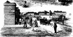 Market Square, from Little Malop-street, Geelong 1855