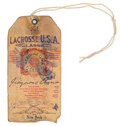 Lacrosse U.S.A. Iroquois Chino Hangtag by Rob Howell, via Behance