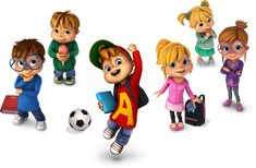 And The Chipmunks Alvin Und Die Chipmunks, Lol Doll Cake, The Chipettes, Mini Pony, Happy Cartoon, Dynamic Poses, Tapestry Design, Play Soccer, Lol Dolls
