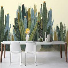 Large Cacti Wall Murals Photo Wallpaper for Living Room Cactus Plant Wall Paper 3 D papel de parede do desktop Custom Size Cheap Wallpaper, Kids Wallpaper, Custom Wallpaper, Photo Wallpaper, Cactus, Art Wall Kids, Canvas Wall Art, Nursery Decor, Wall Decor