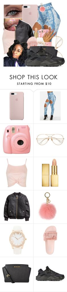 """""""Untitled #114"""" by princessjolie ❤ liked on Polyvore featuring Fujifilm, Topshop, AERIN, MICHAEL Michael Kors, Forever 21, Puma and NIKE"""