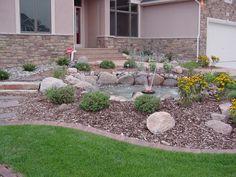 kleinen Garten geschmackvoll gestalten Grass und Steinen ...