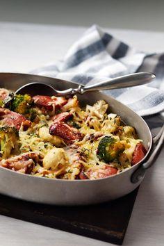 Low Carb Recipes, Diet Recipes, Cooking Recipes, Healthy Recipes, Recipies, Sausage Recipes, Ketogenic Recipes, Easy Cooking, Cooking Time