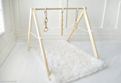 Wooden Baby Play Gym, Baby Activity Gym, Natural Wood Baby Toy, Baby Sensory Toy