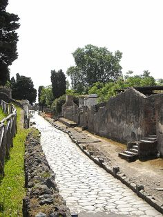 Street of Tombs at Pompeii
