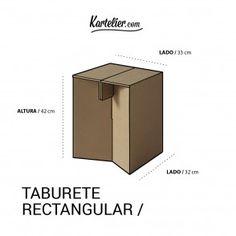 Kartelier | Muebles de cartón - taburete de cartón