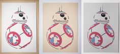 Star Wars BB-8 Screen Print - Handmade by Jamison Toy and available for purchase at LToyCreations.com (Limited Supplies) Prop Making, Screen Printing, Bb, Star Wars, Snoopy, Stars, Prints, Handmade, Character