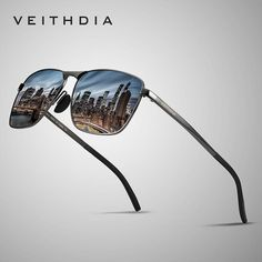 04f50b5558 VEITHDIA Brand Men s Vintage Square Sunglasses Polarized UV400 Lens Eyewear  Accessories Male Sun Glasses For Men