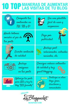 10 formas de aumentar las visitas a tu blog #infografia #infographic #socialmedia
