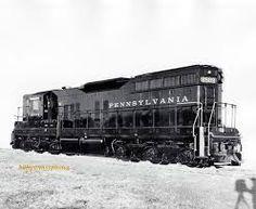 (EMD SD7).   Pennsylvania R.R.   #8589.  Diesel Locomotive.