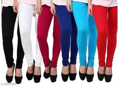 Leggings & Tights  COTTON HOSIERY BLACK+WHITE+MAROON+ROYAL_BLUE+FIROZA+RED LEGGING Fabric: Cotton Pattern: Solid Multipack: 6 Sizes:  Free Size (Waist Size: 40 in, Length Size: 43 in, Hip Size: 44 in)  Country of Origin: India Sizes Available: Free Size   Catalog Rating: ★3.7 (8599)  Catalog Name: Elegant Fabulous Women Leggings CatalogID_2445068 C79-SC1035 Code: 855-12640366-5841