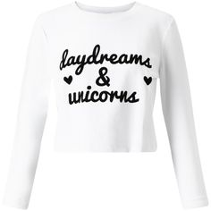 Miss Selfridge Petite Daydreams Cropped Sweatshirt, White (24 AUD) ❤ liked on Polyvore featuring tops, hoodies, sweatshirts, shirts, sweaters, crop tops, white, petite, long sleeve jersey and long sleeve crop top