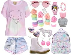 """""""Magical Girl"""" by twisted-candy ❤ liked on Polyvore"""