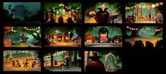 Desenvolvimento visual do filme Hotel Transylvania por Chin Ko Hotel Transylvania 2, Color Script, Color Plan, Environment Concept, Colour Board, Storyboard, Art Blog, Light Colors, Concept Art