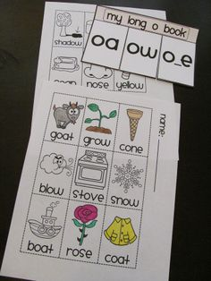 Long Vowel books to make to practice long vowel sounds! Color the pictures, sort them by sound, and paste into your cute little Long O book
