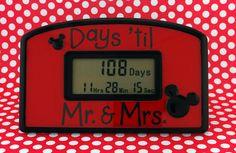 Days 'Til Mr & Mrs Disney Wedding Countdown Clock by TimelyGifts, $24.99