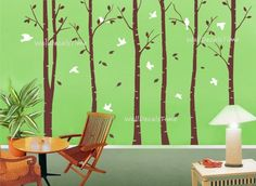 Tree Wall Decals Removable Vinyl Decal Wall by WallDecalsTime, $89.00