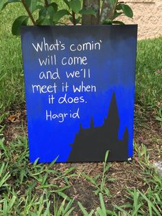 Harry Potter Hagrid Quote Hand Painted Canvas by TheHandpaintedPaw