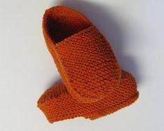 PATRON PDF No 30 Pantoufles loafers faciles au tricot adultes femmes hommes explications français chaussons 3petitesmailles