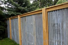I love this idea for a fence.  I don't know how thrilled my neighbors would be, but I think it looks AWESOME.