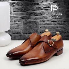 Mens Leather Monk Strap Shoes by Paul Parkman (Brown) New Shoes, Men's Shoes, Shoe Boots, Dress Shoes, Shoes Men, Men Dress, Italian Leather Shoes, Leather Men, Brown Leather
