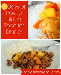 7 Days of Puerto Rican Food: Weekly Meal Plan for Dinner PuertoRico Pollo Guisado Recipe, Comida Boricua, Spanish Dishes, Spanish Food, Spanish Recipes, Puerto Rico Food, Dominican Food, Puerto Rican Recipes, Caribbean Recipes