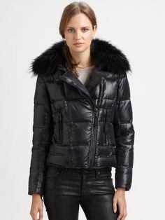Puffy Jacket, Fur Collars, Jacket Style, Jessie, Biker, Winter Jackets, Lady, Coat