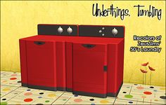 Sims 2 Download: recolors of zeussims wonderful TS3 conversion of the 50's Laundry Set