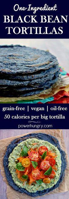 In have black bean flour. Make your own black bean tortillas, with nothing more than dried (plus water & salt). They are only 50 calories per big tortilla, easy-to-make, and, most importantly DELICIOUS! Keto Vegan, Vegan Bread, Vegan Foods, Vegan Dishes, Vegan Life, Vegan Gluten Free, Whole Foods Vegan, Paleo Diet, Mexican Food Recipes