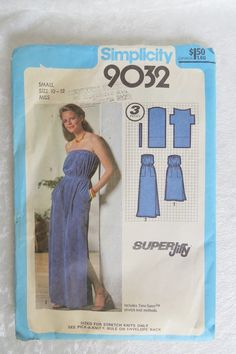 Vintage Simplicity Pattern 9032 Dress Misses Size 12 Super Jiffy