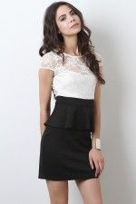 peplum + lace = perfection