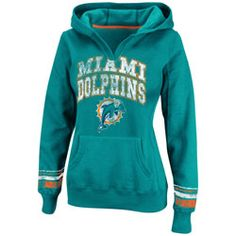 Miami Dolphins Aqua Womens Pre-Season Favorite II Hooded Sweatshirt $41.24