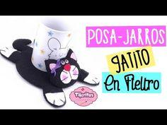 DIY - Como hacer un Posa - Jarros de Gatito - Facil - #TijeritasManualidades - YouTube