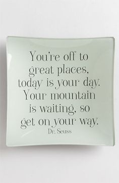 'You're Off To Great Places' Trinket Tray available at Nordstrom
