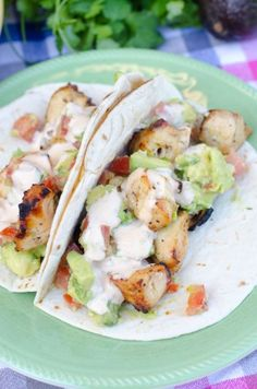 Grilled #Chicken #Tacos With Spiced Mayo And Avocado Salsa ~ Next time you're going to arrange a BBQ party try to put this recipe in life!