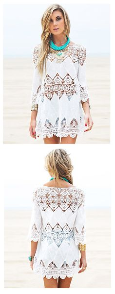 a774c676a79f Add this chic crochet tunic to your summer vacation list. Click on the  picture to