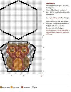 OWL Cross Stitch Owl, Cross Stitch Patterns, Plastic Canvas Crafts, Plastic Canvas Patterns, Owl Ornament, Ornaments, Canvas 5, Plastic Baskets, Embroidery Stitches Tutorial